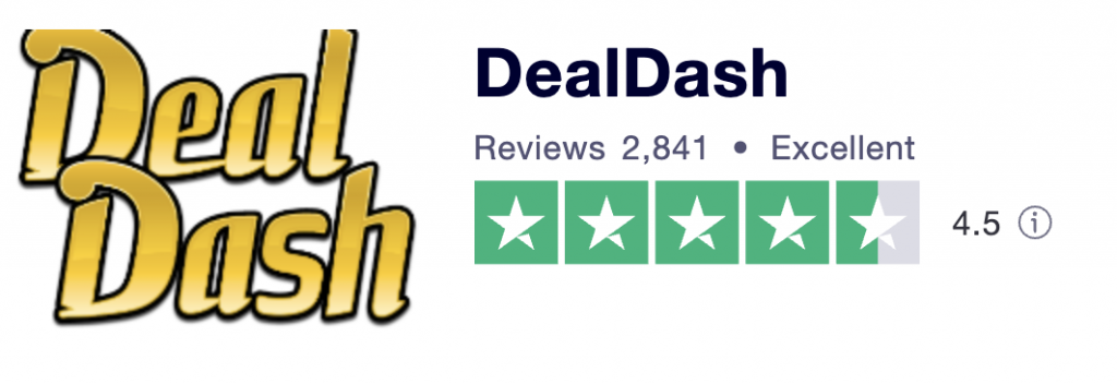DealDash holds a 81% Excellent rating on Trustpilot.com