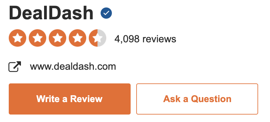 DealDash holds a 4.26 star rating on SiteJabber
